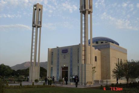 مسجد بزرگ امام سجاد (ع) واقع در پارك آبي آزادگان